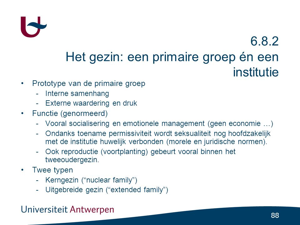 6.8.2 Het gezin: een primaire groep én een institutie: trends