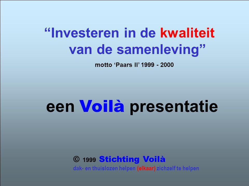 een Voilà presentatie Investeren in de kwaliteit van de samenleving