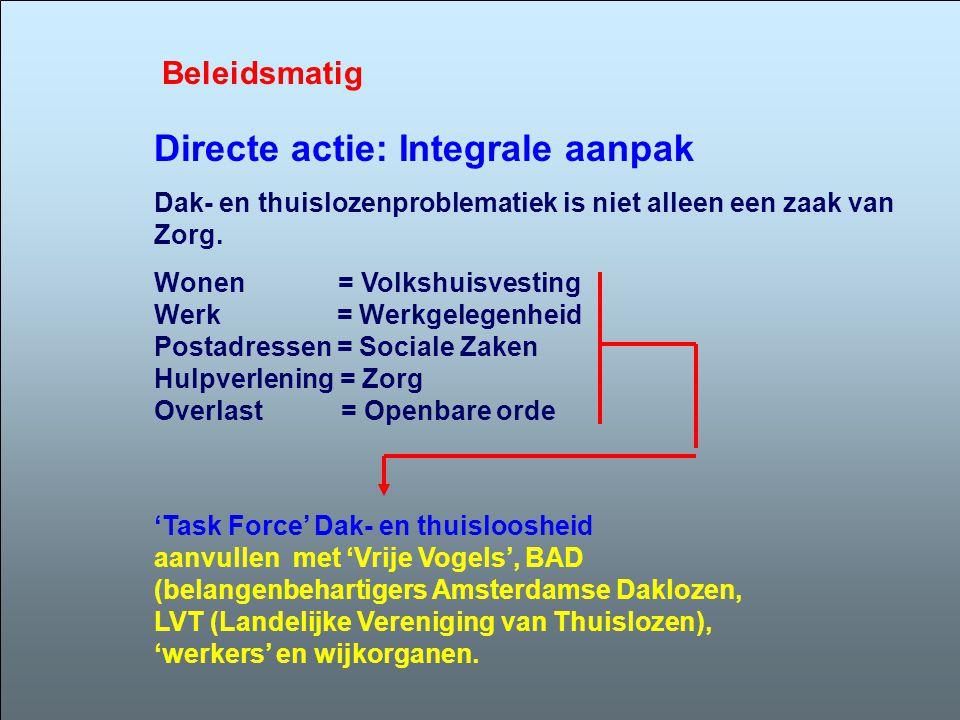 Directe actie: Integrale aanpak