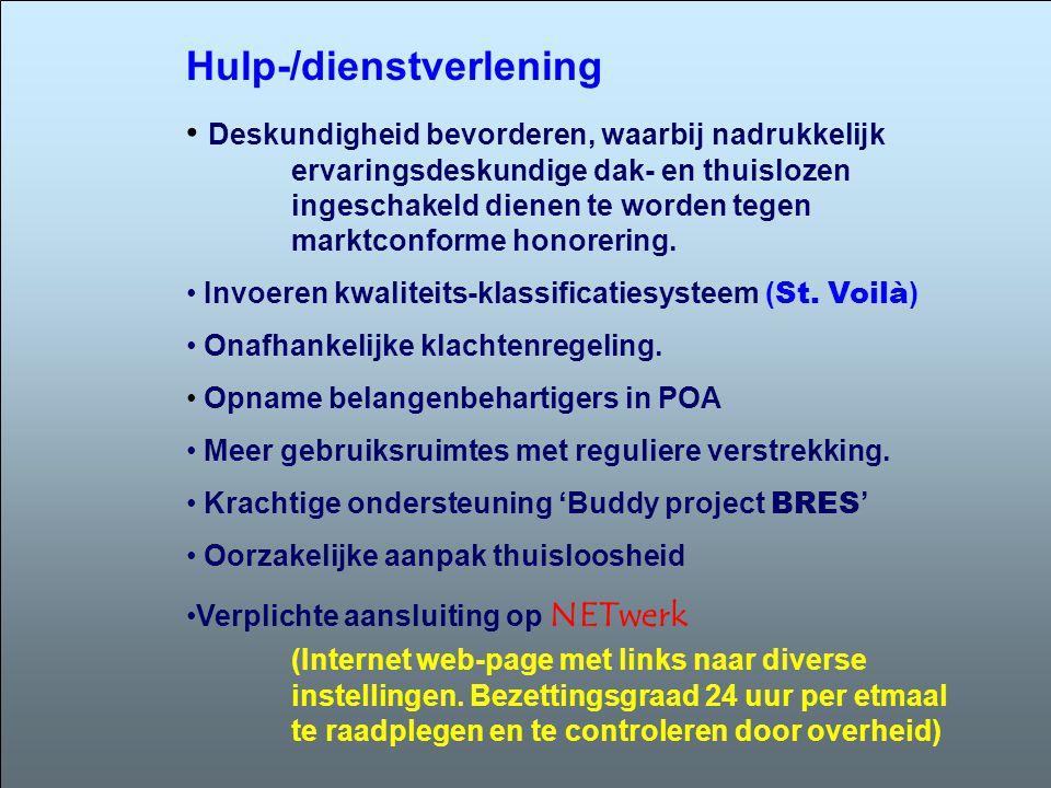 Hulp-/dienstverlening