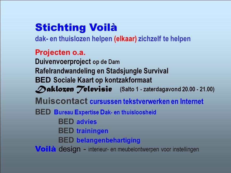 Stichting Voilà dak- en thuislozen helpen (elkaar) zichzelf te helpen
