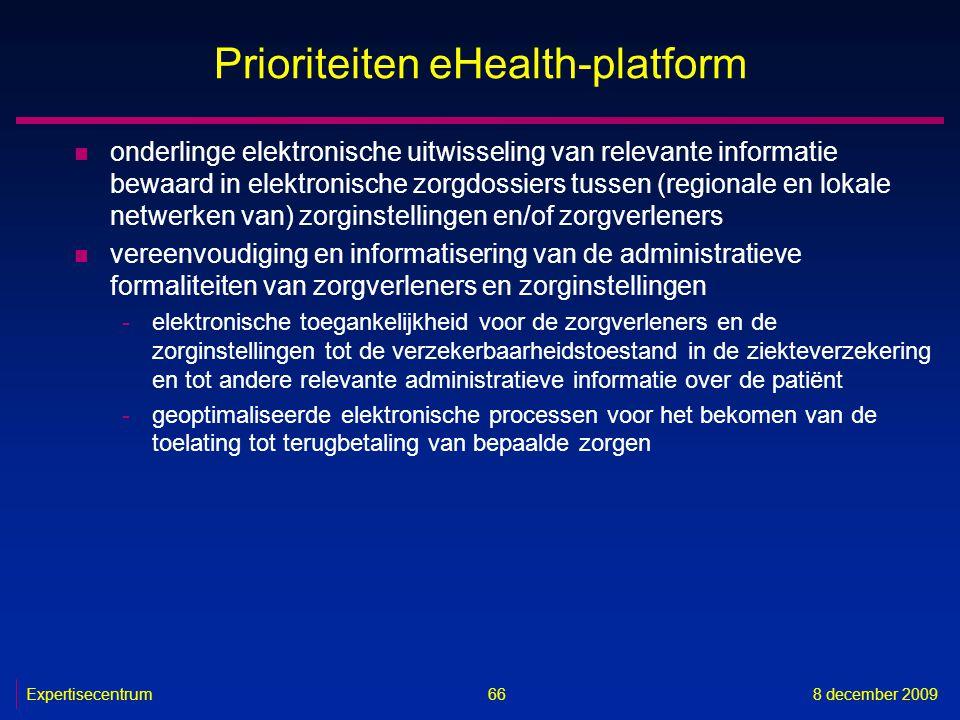 Prioriteiten eHealth-platform