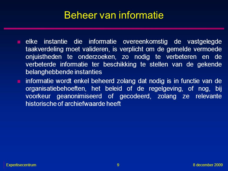 Beheer van informatie