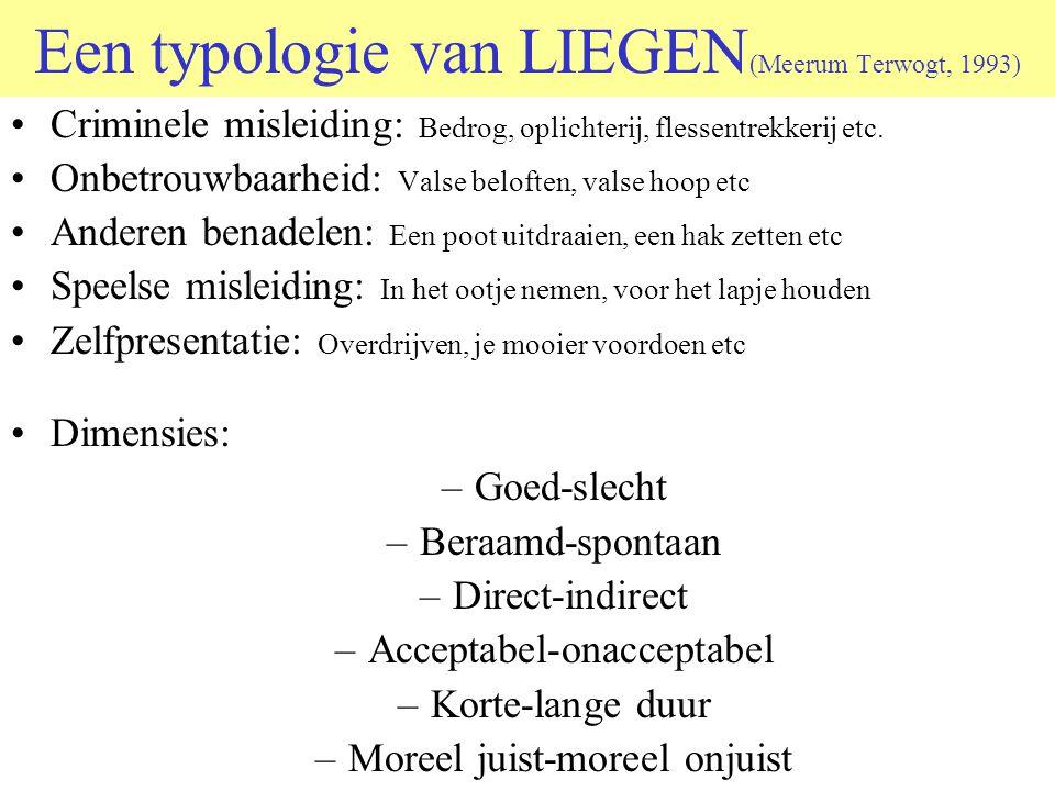 Een typologie van LIEGEN(Meerum Terwogt, 1993)