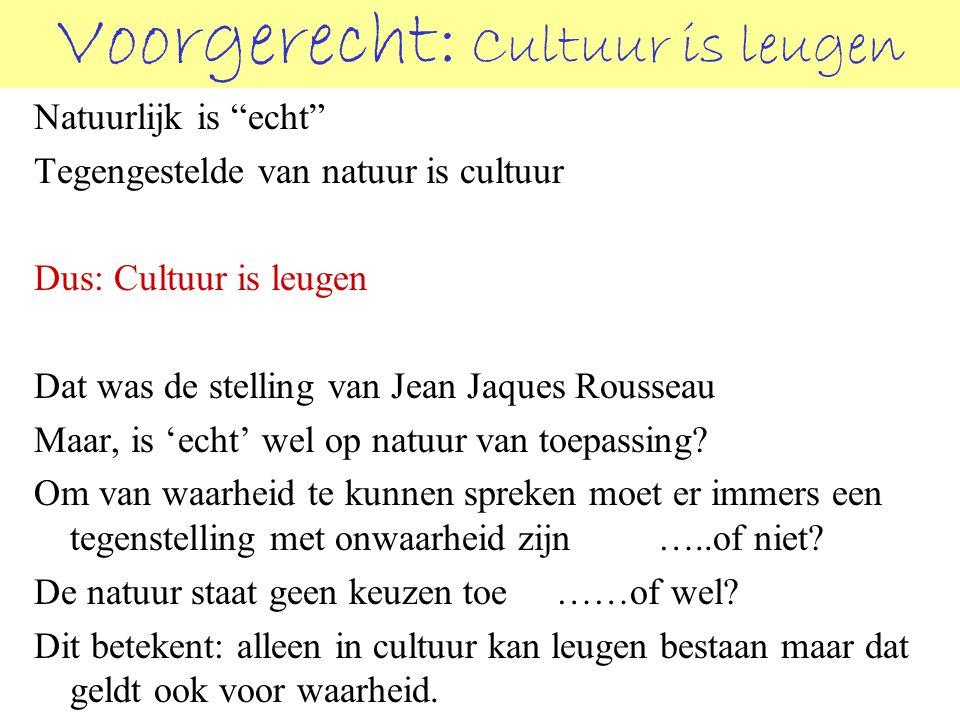 Voorgerecht: Cultuur is leugen