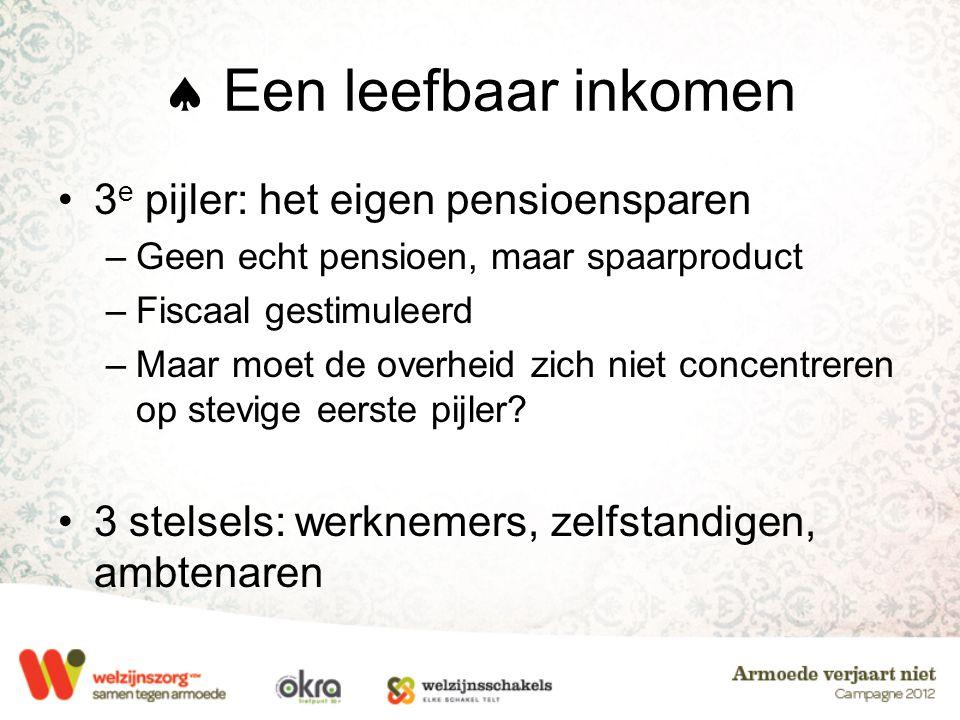  Een leefbaar inkomen 3e pijler: het eigen pensioensparen
