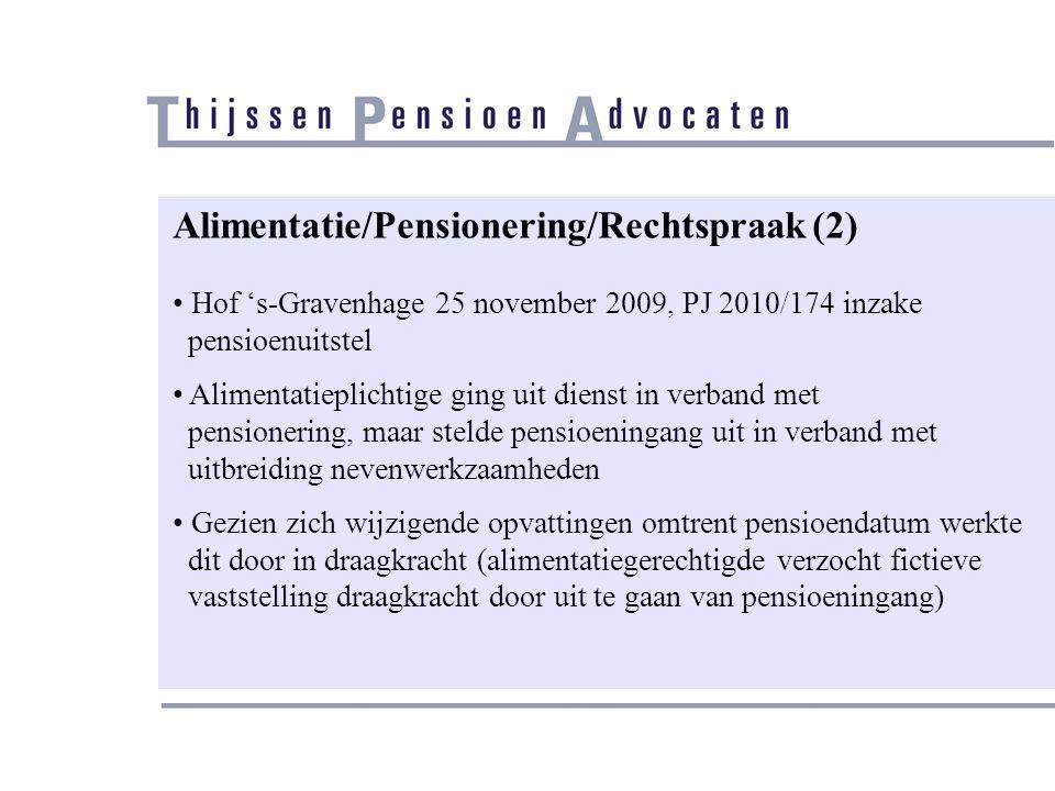 Alimentatie/Pensionering/Rechtspraak (2)