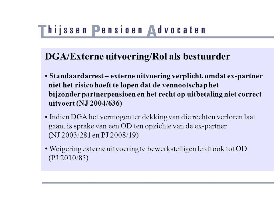 DGA/Externe uitvoering/Rol als bestuurder