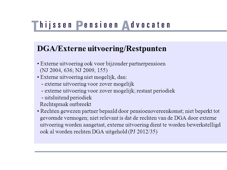 DGA/Externe uitvoering/Restpunten