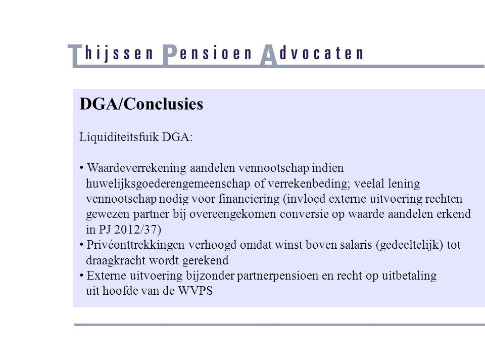 DGA/Conclusies Liquiditeitsfuik DGA: