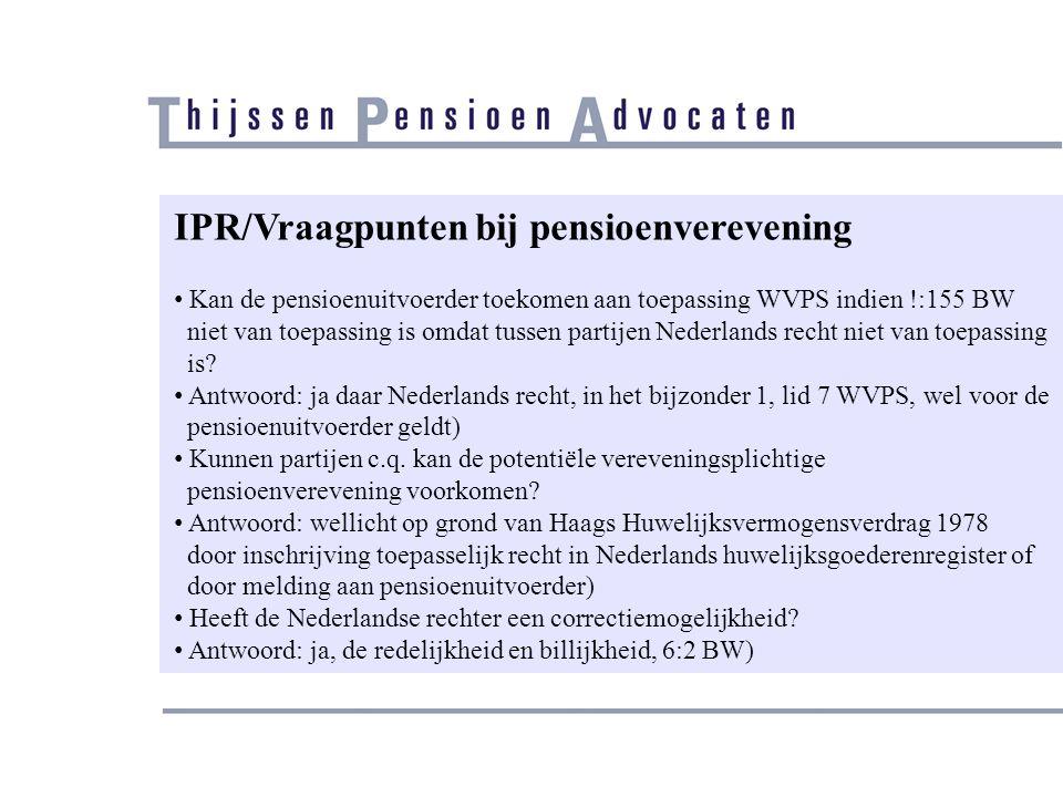 IPR/Vraagpunten bij pensioenverevening