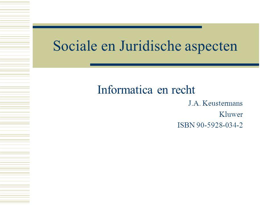 Sociale en Juridische aspecten