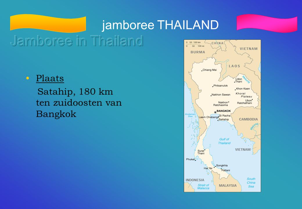 Jamboree in Thailand jamboree THAILAND Plaats