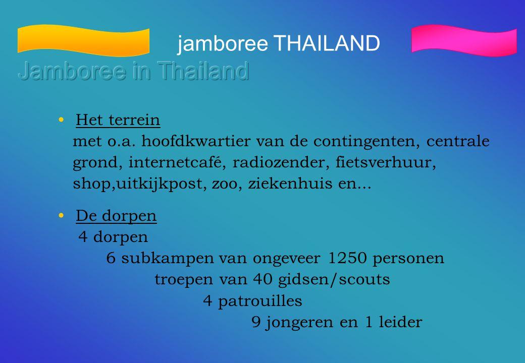 Jamboree in Thailand jamboree THAILAND Het terrein