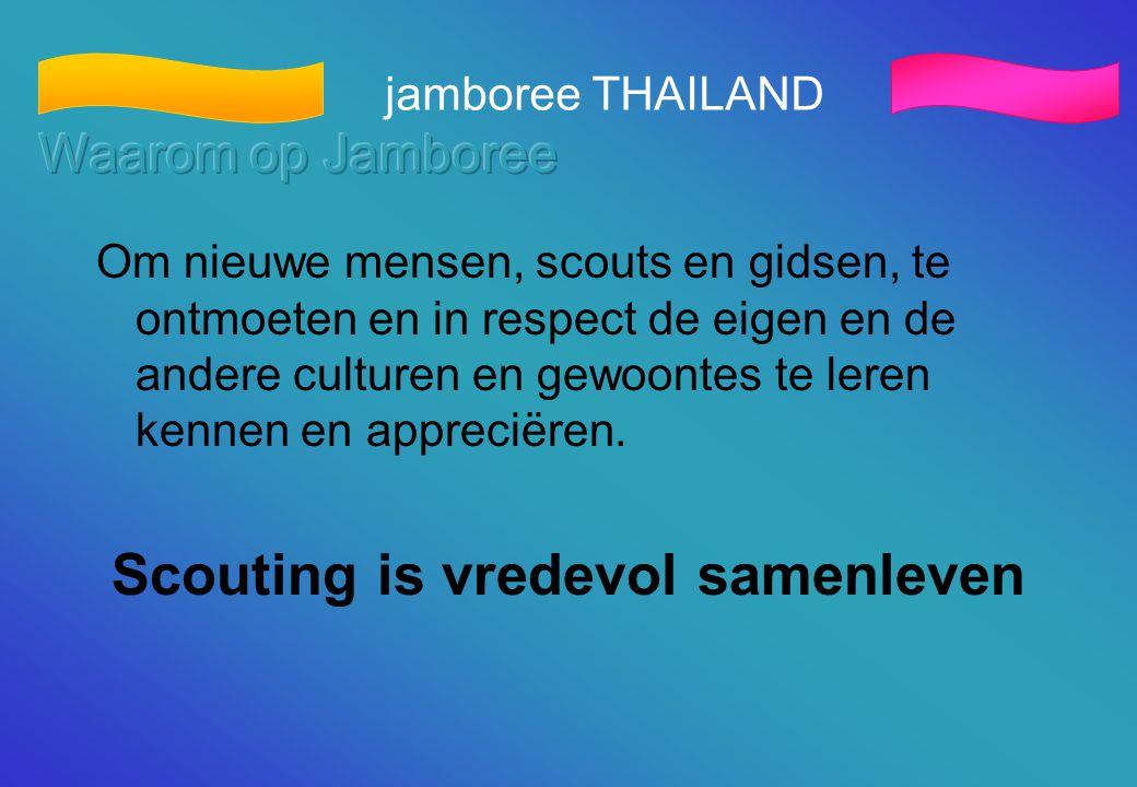 Scouting is vredevol samenleven