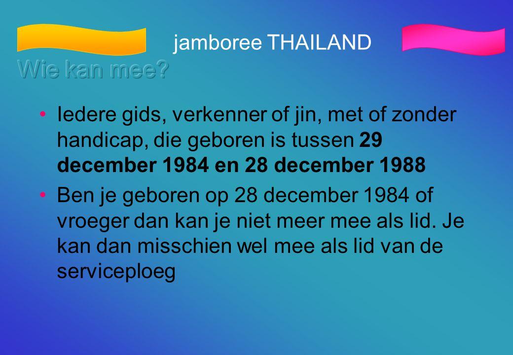 Wie kan mee jamboree THAILAND