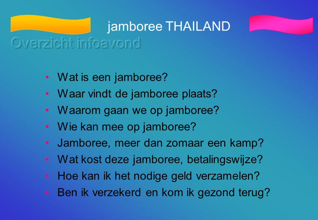 Overzicht infoavond jamboree THAILAND Wat is een jamboree