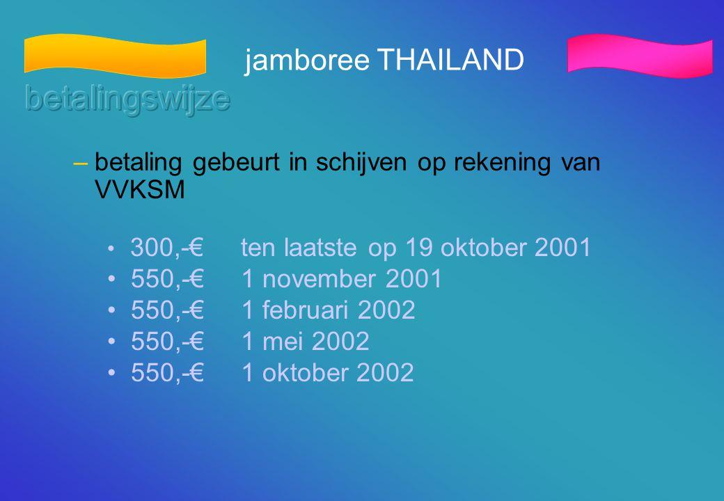 betalingswijze jamboree THAILAND