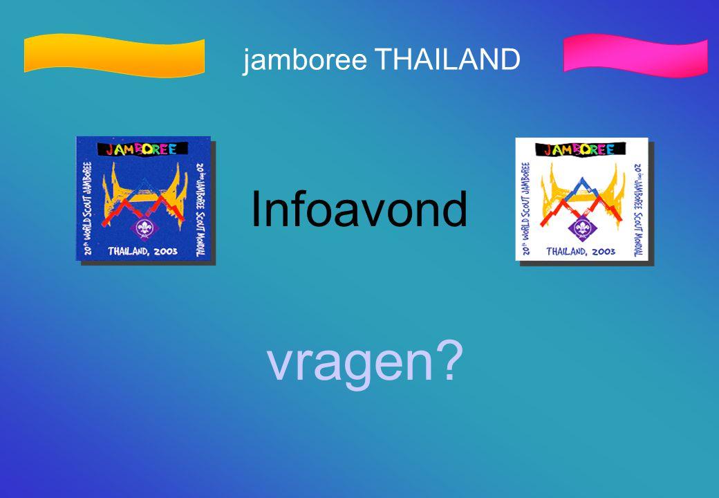 jamboree THAILAND Infoavond vragen