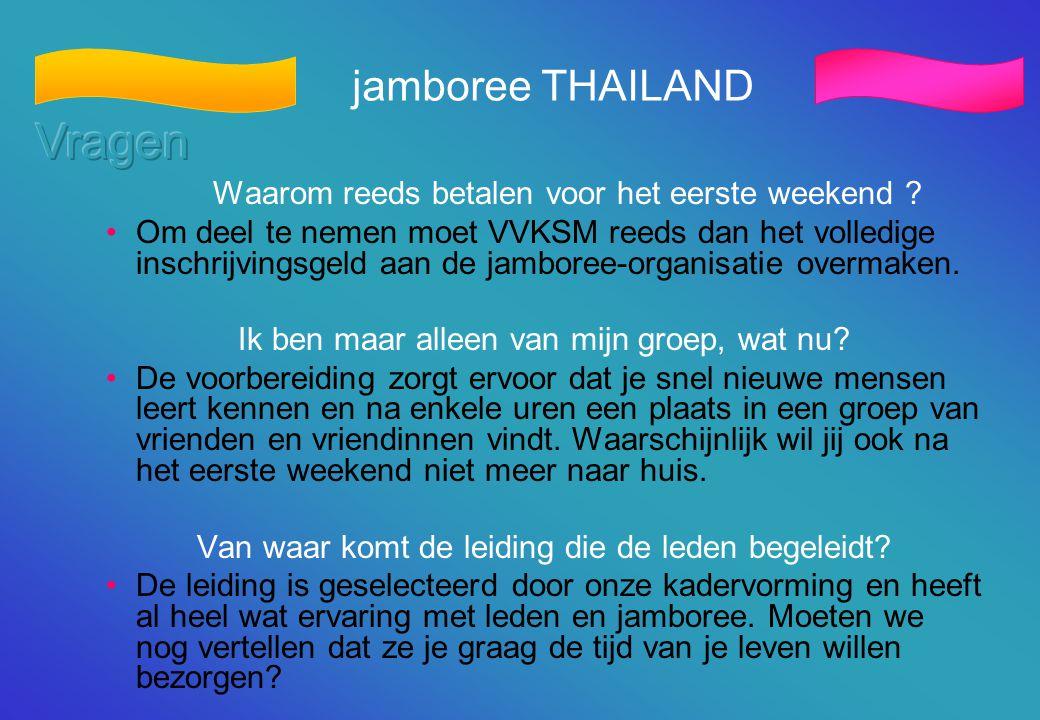 Vragen jamboree THAILAND
