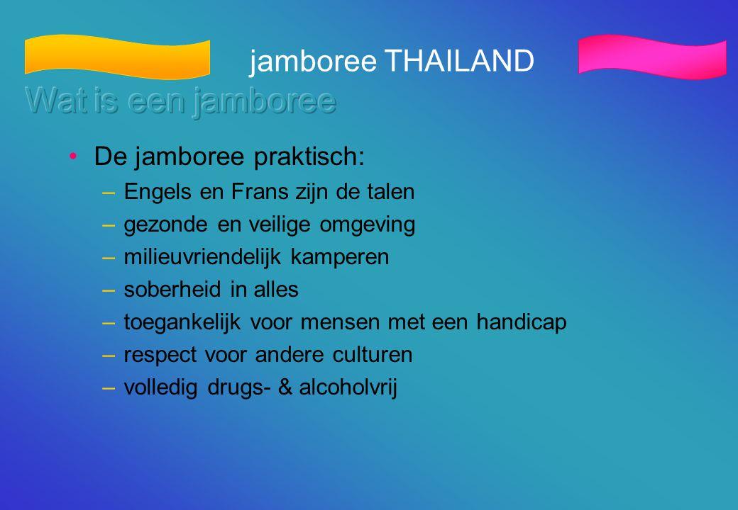 Wat is een jamboree jamboree THAILAND De jamboree praktisch: