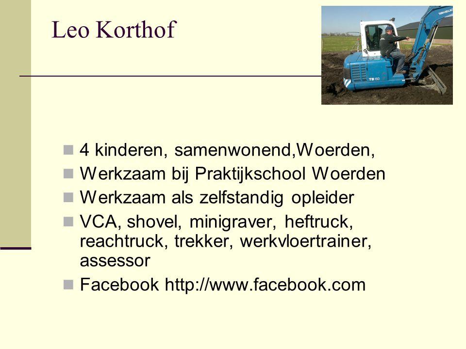 Leo Korthof 4 kinderen, samenwonend,Woerden,