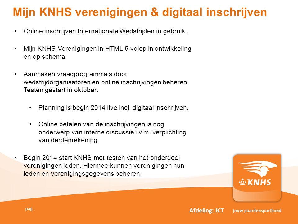 Mijn KNHS verenigingen & digitaal inschrijven
