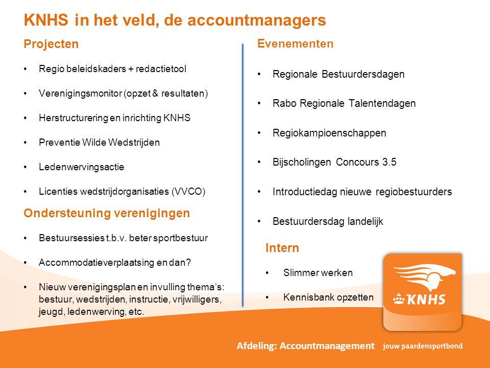 KNHS in het veld, de accountmanagers