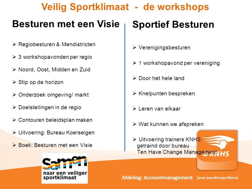 Veilig Sportklimaat - de workshops