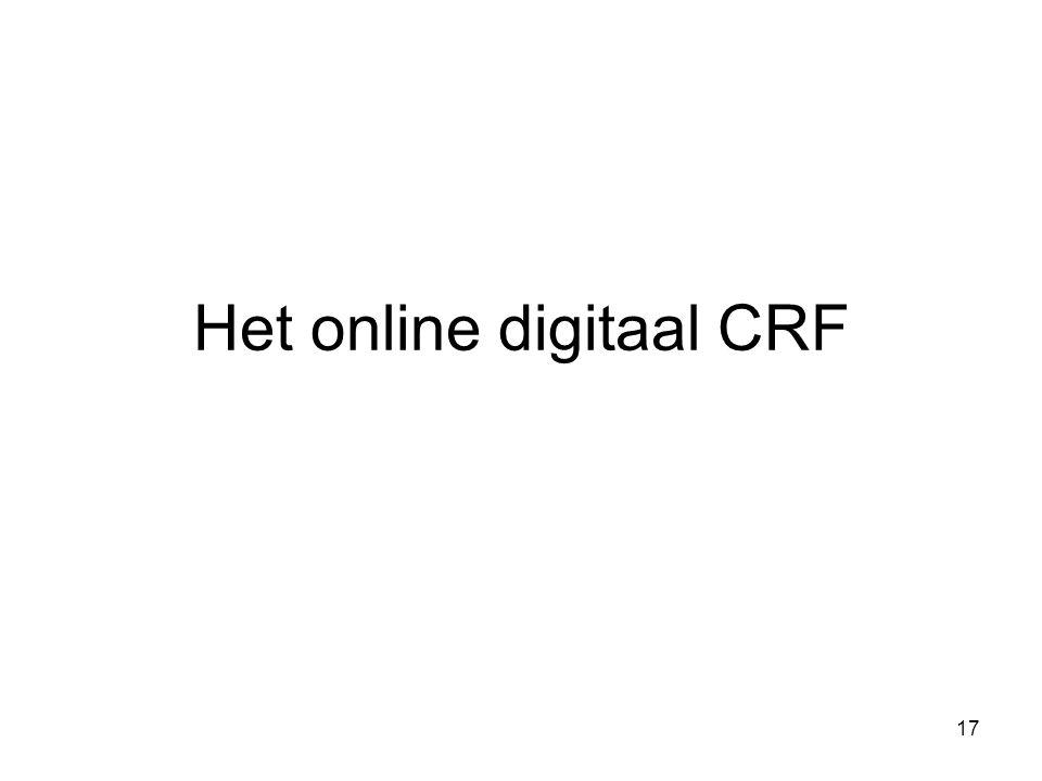 Het online digitaal CRF