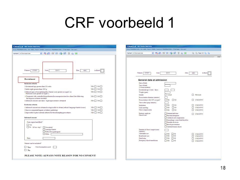 CRF voorbeeld 1