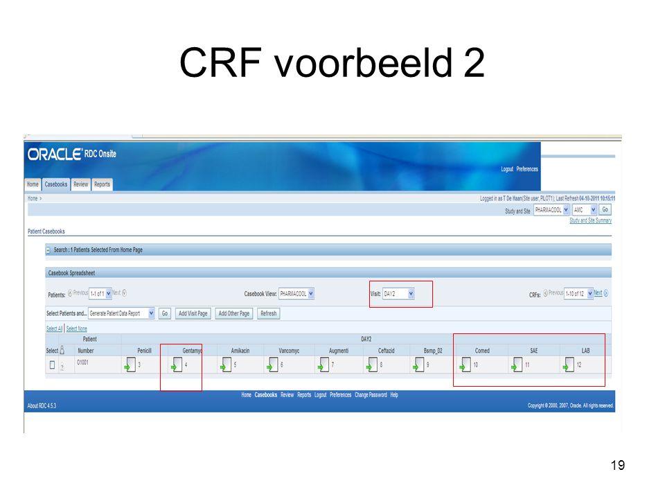CRF voorbeeld 2