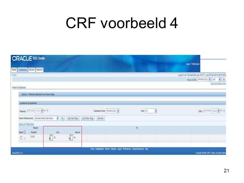 CRF voorbeeld 4