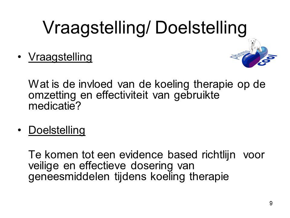 Vraagstelling/ Doelstelling
