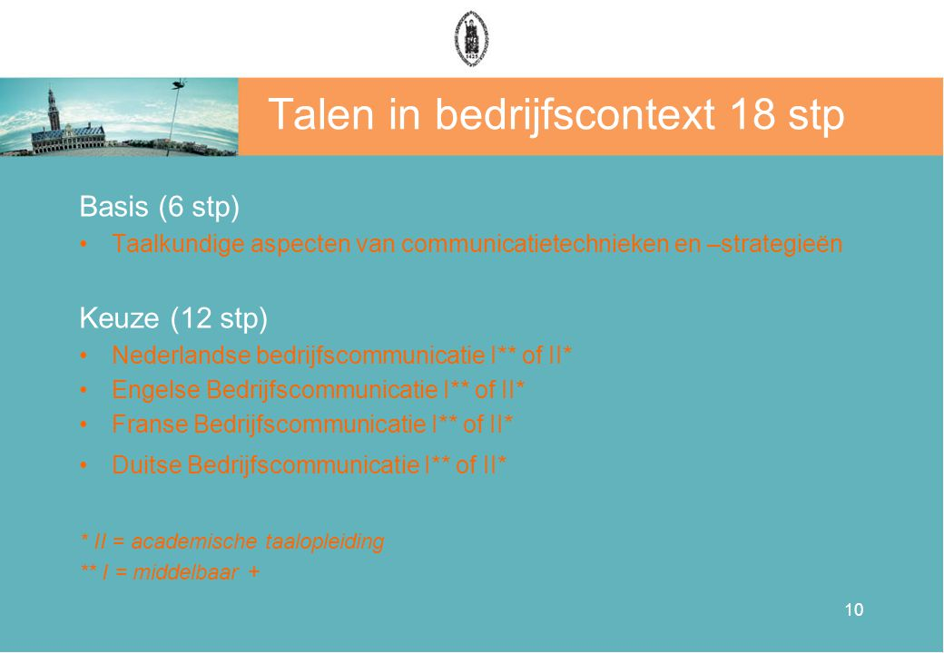 Talen in bedrijfscontext 18 stp
