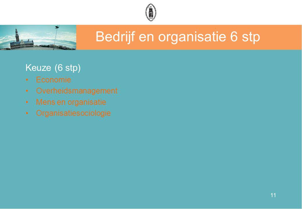Bedrijf en organisatie 6 stp