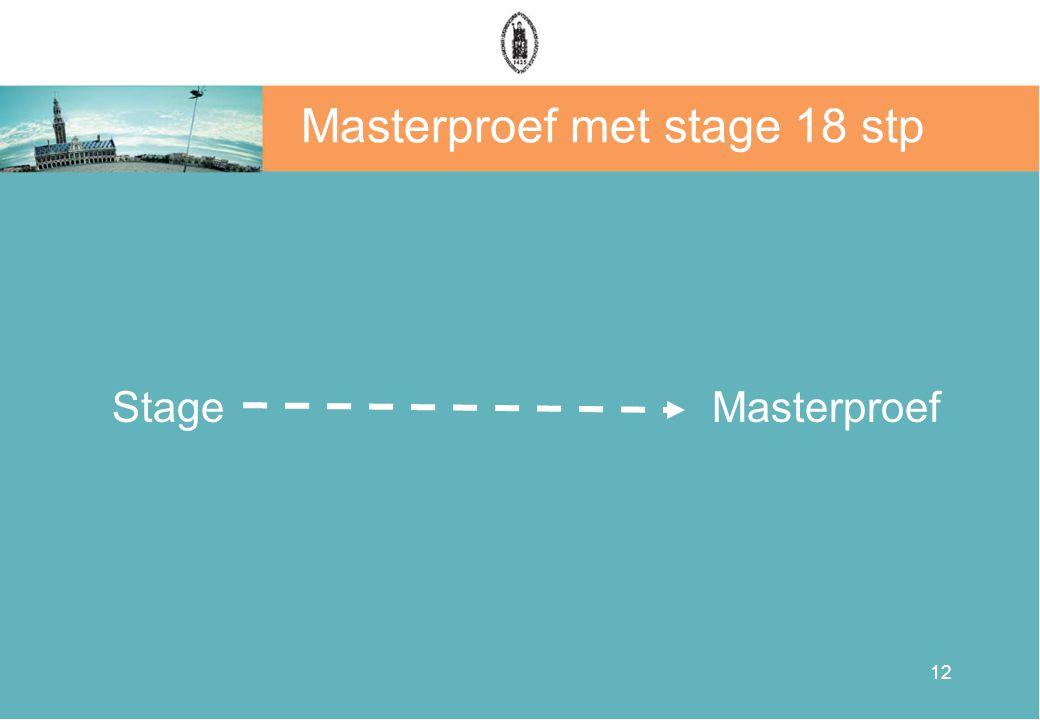Masterproef met stage 18 stp