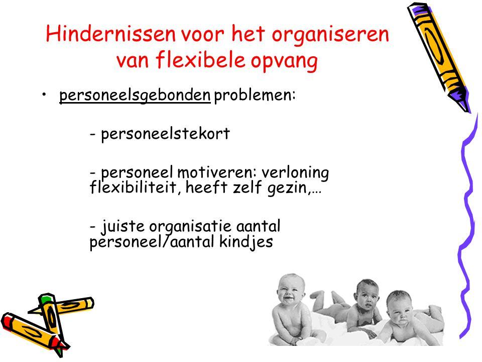 Hindernissen voor het organiseren van flexibele opvang