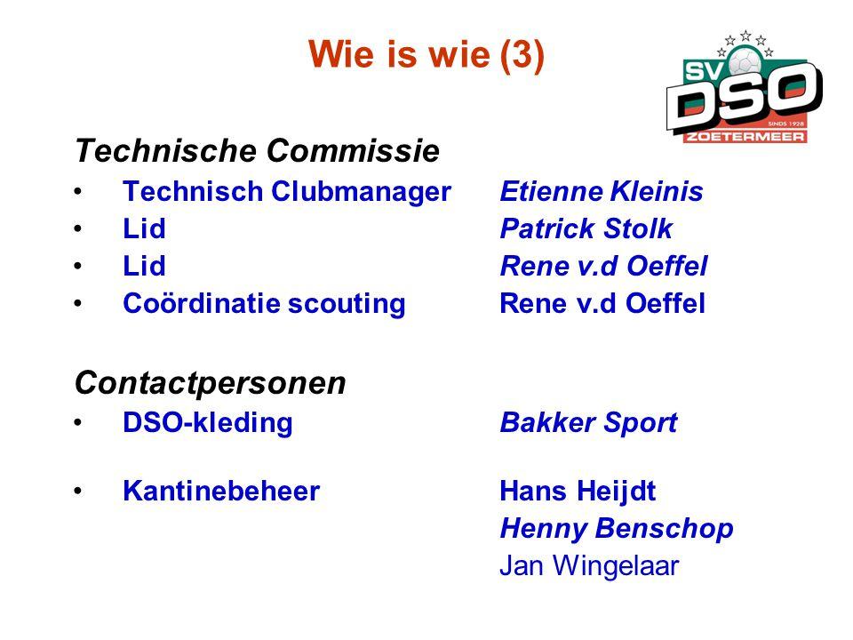 Wie is wie (3) Technische Commissie Contactpersonen