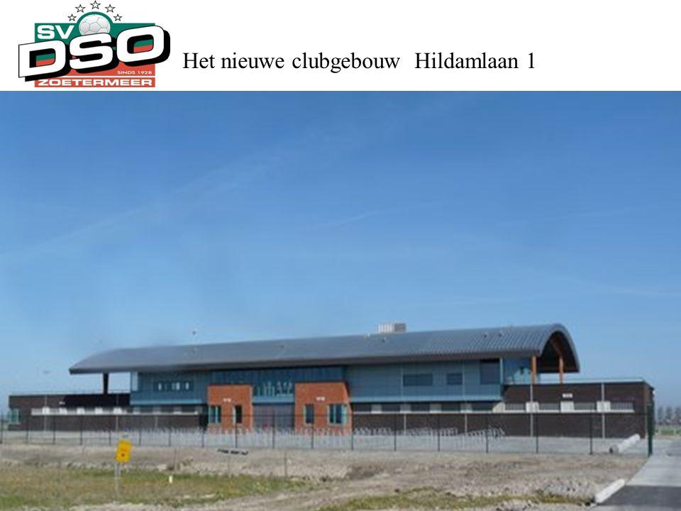 Het nieuwe clubgebouw Hildamlaan 1