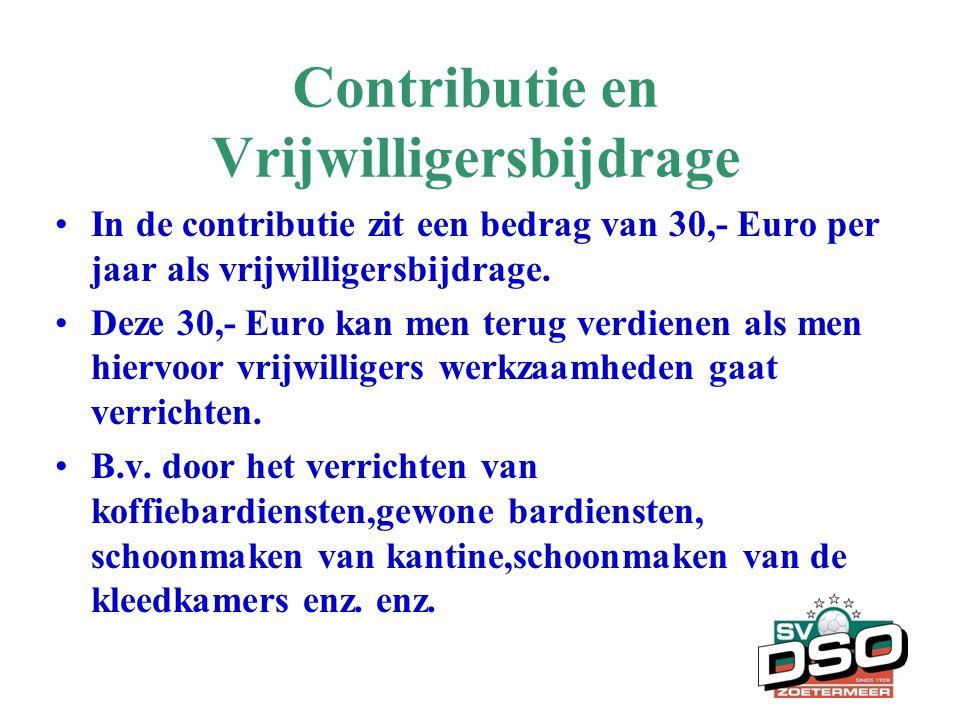 Contributie en Vrijwilligersbijdrage