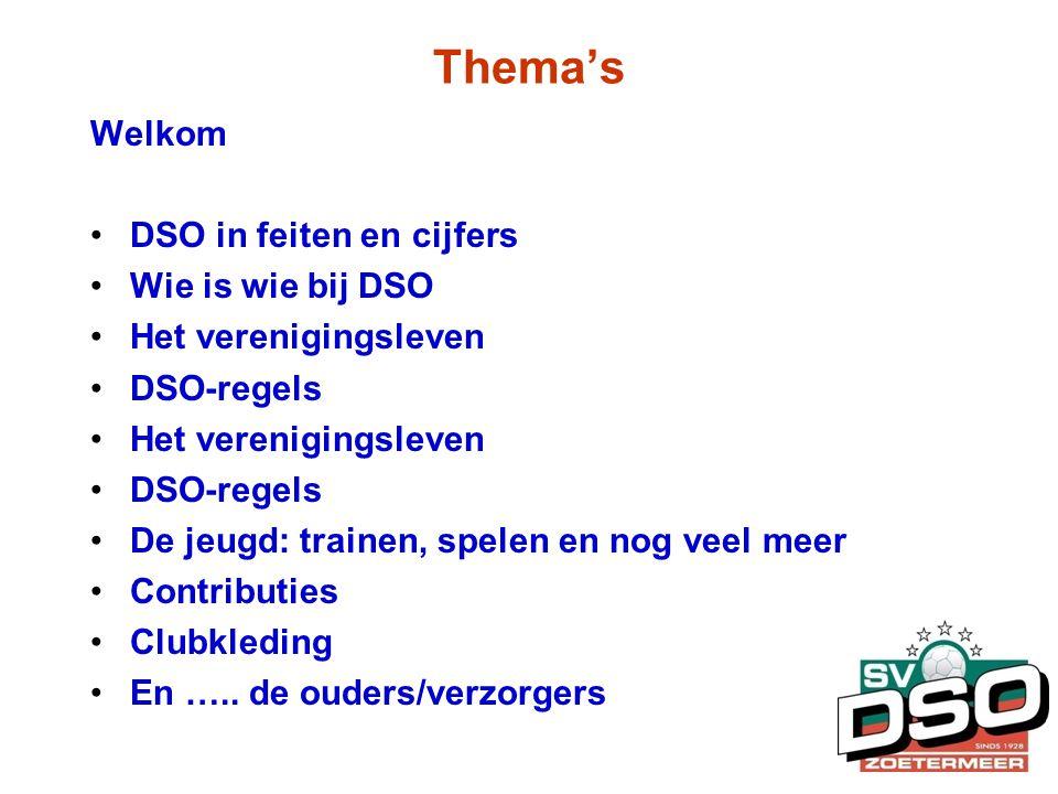 Thema's Welkom DSO in feiten en cijfers Wie is wie bij DSO
