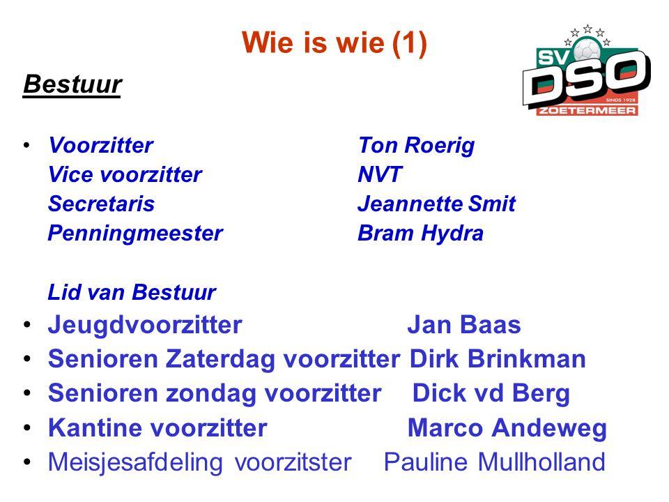 Wie is wie (1) Bestuur Jeugdvoorzitter Jan Baas