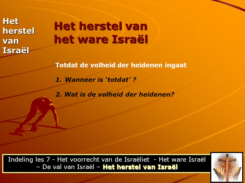 Het herstel van het ware Israël