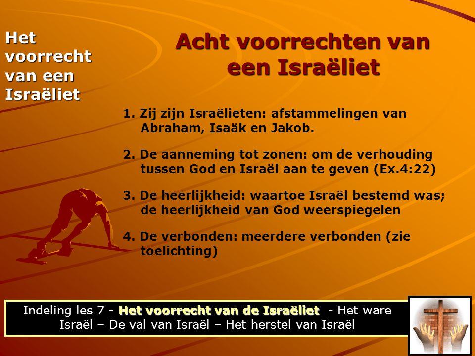 Acht voorrechten van een Israëliet