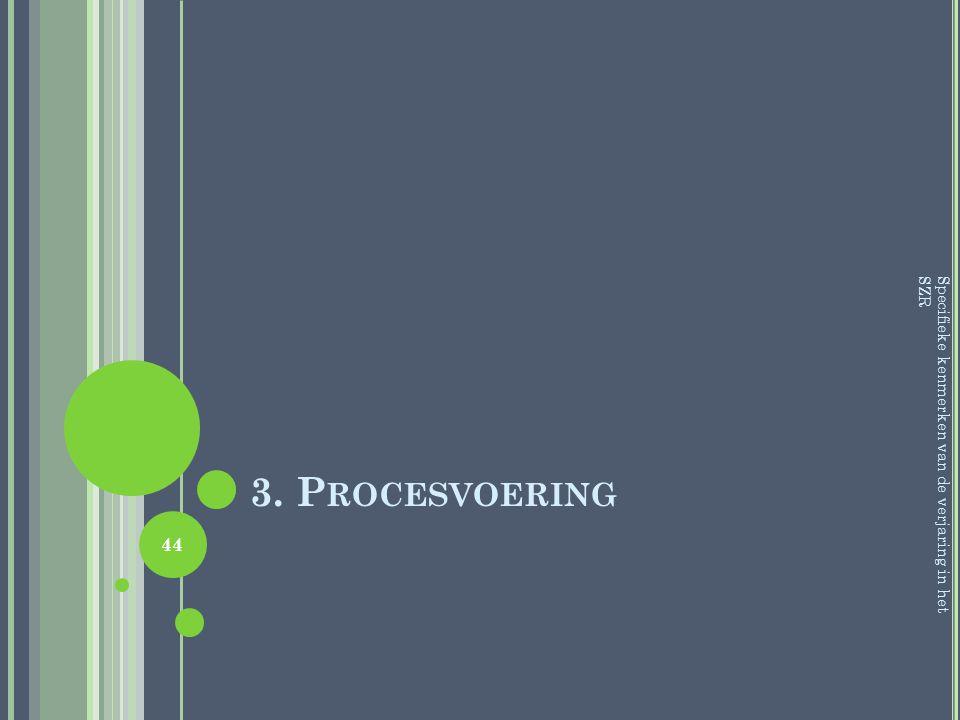 3. Procesvoering Specifieke kenmerken van de verjaring in het SZR