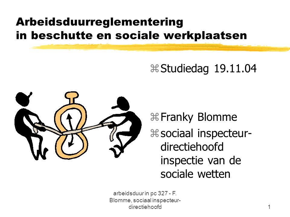 Arbeidsduurreglementering in beschutte en sociale werkplaatsen
