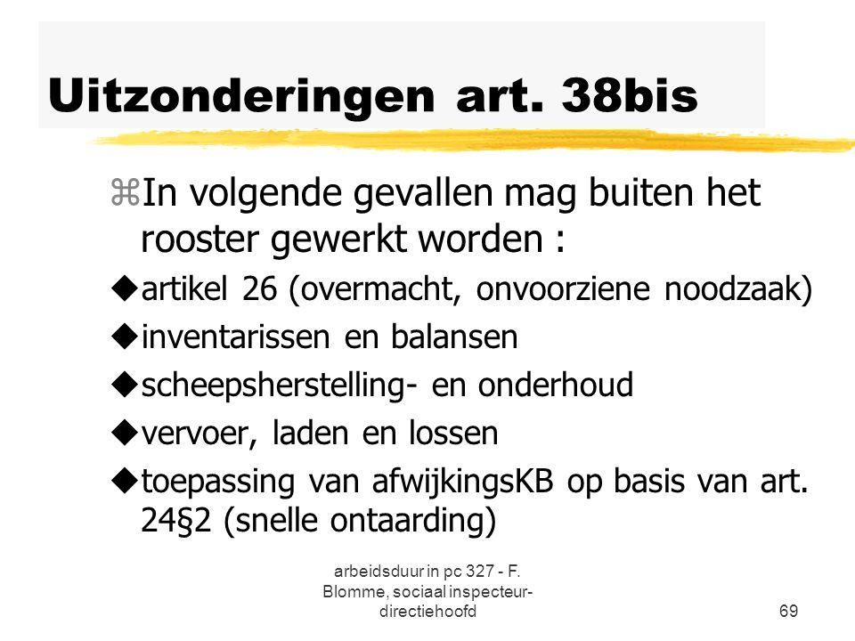 Uitzonderingen art. 38bis