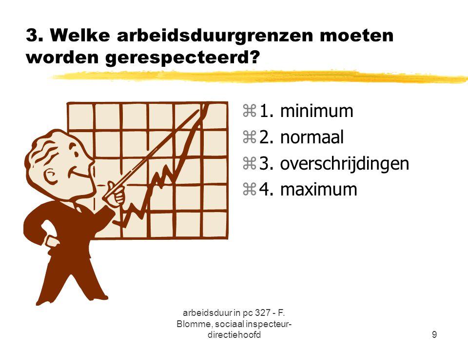 3. Welke arbeidsduurgrenzen moeten worden gerespecteerd