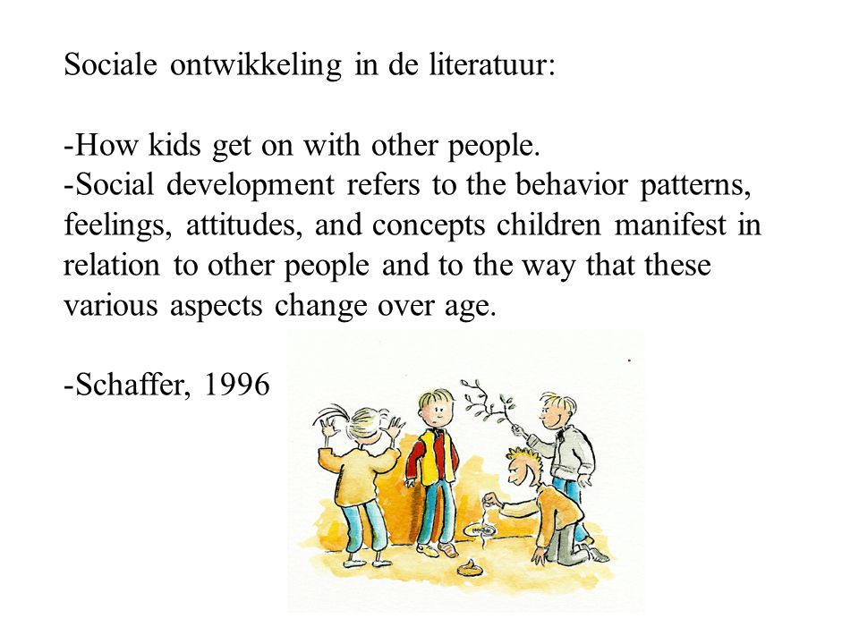 Sociale ontwikkeling in de literatuur: